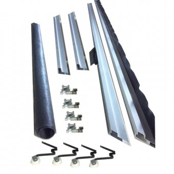 "Screen Door Kit 60"" x 80"" - 95"" Extruded Aluminum"